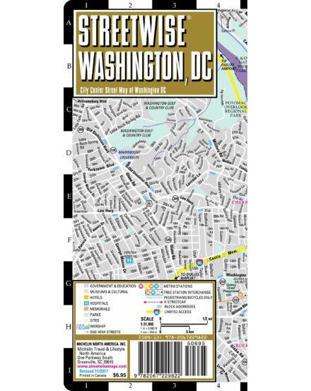 Washington, dc (streetwise) várostérkép