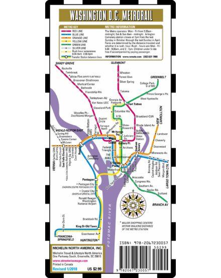 Washington DC Metro (streetwise) várostérkép