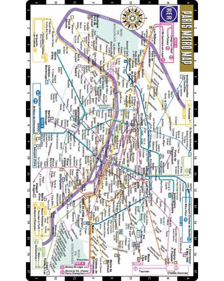 Párizs metró térképe (Streetwise)
