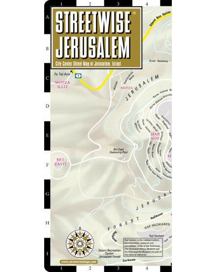 Jeruzsálem (streetwise) várostérkép