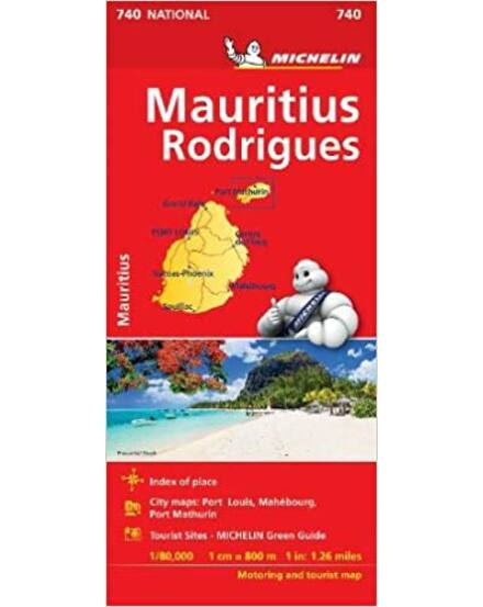 Mauritius térkép (Michelin)