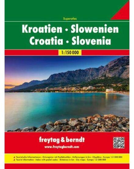 Horvátország, Szlovénia szuperatlasz_Cartographia