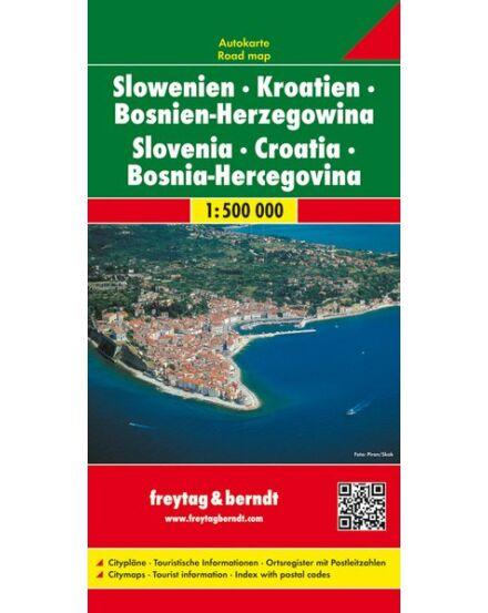 Horvátország/Szlovénia/Bosznia kemény borítós térkép  (Freytag)