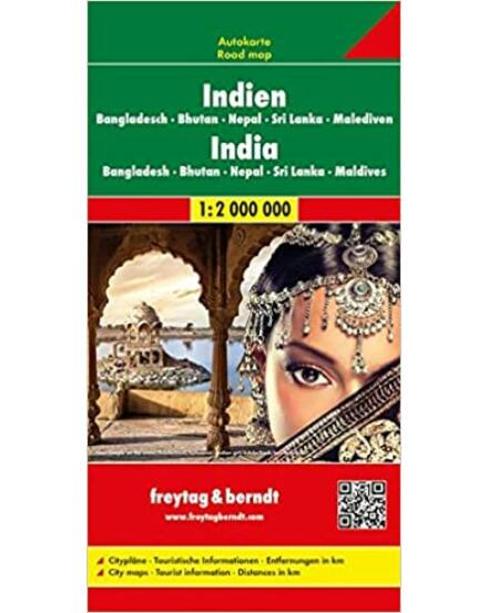 India-Banglades-Bhután-Nepál-Sri Lanka tkp. AK179 (Freytag)