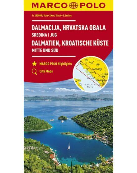 Cartographia  - Dalmát-tengerpart - Közép és Dél térkép