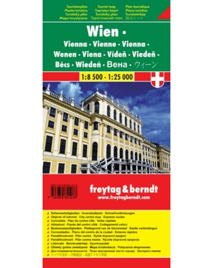 Bécs várostérkép (Freytag)