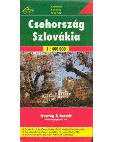 Csehország és Szlovákia autóstérkép (Freytag)