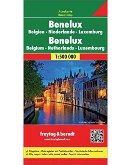 Benelux államok autóstérképe (Freytag)