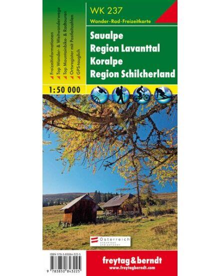 Cartographia  - WK237 Saualpe-Region Lavanttal-Koralpe-Region Schilcherland turistatérkép