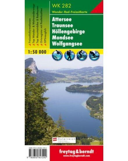 WK282 Attersee-Traunsee Höllengebirbe Mondsee Wolfgangsee (Freytag)