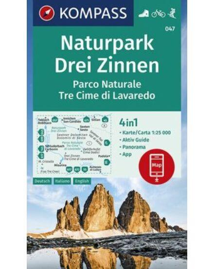 Naturpark Drei Zinnen Turistatérkép