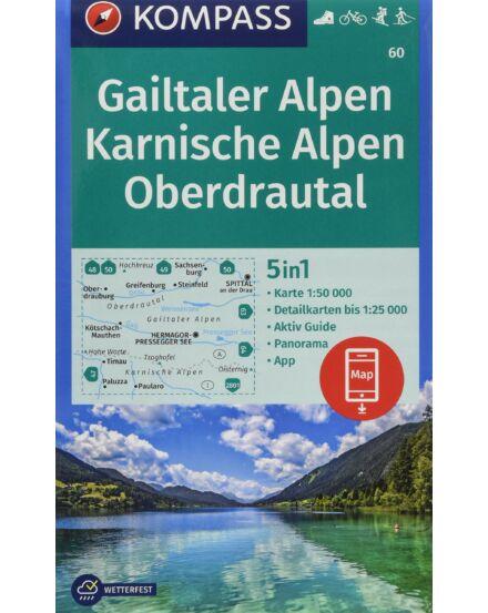 K 60 Gailtaler Alpen, Karnische Alpen, Oberdrautal turistatérkép