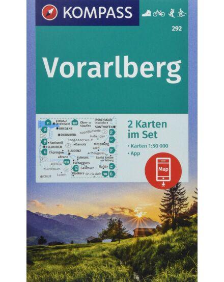Vorarlberg, 2 részes térképszett kalauzzal