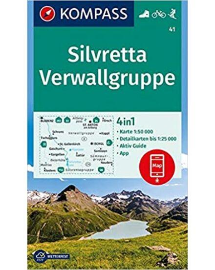 Silvretta-Verwallgruppe turistatérkép