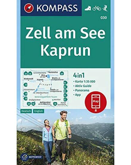 Zell am See / Kaprun + Aktiv Guide: 4in1 Turistatérkép