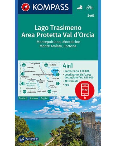 Cartographia  - K 2463 Lago Trasimeno, Area Prottetta Val d'Orcia turistatérkép