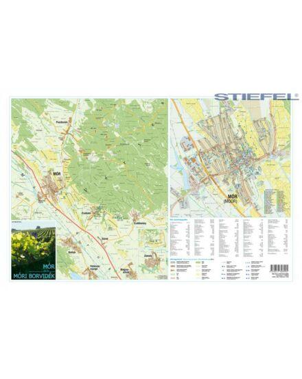 Mór és a Móri borvidék térkép (Stiefel)