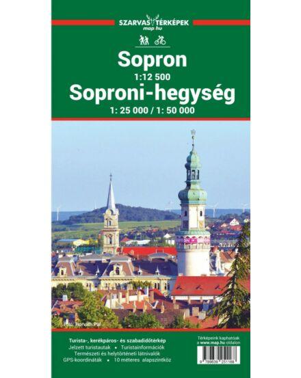 Soproni-hegység turistatérkép (Szarvas)