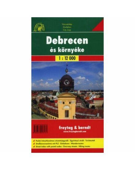 Debrecen várostérkép (Freytag)