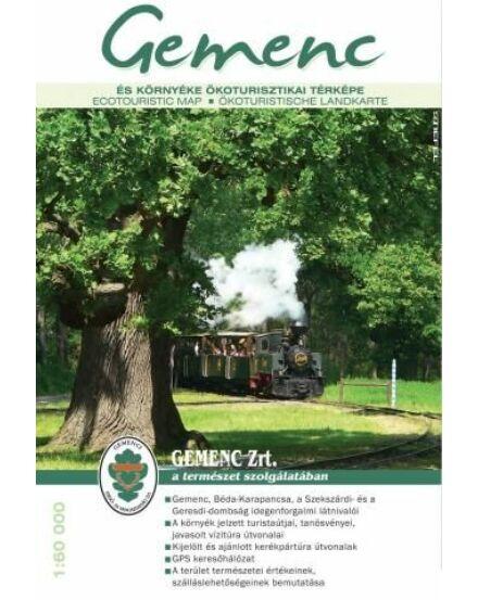 Gemenc és környéke turista és kerékpáros térkép