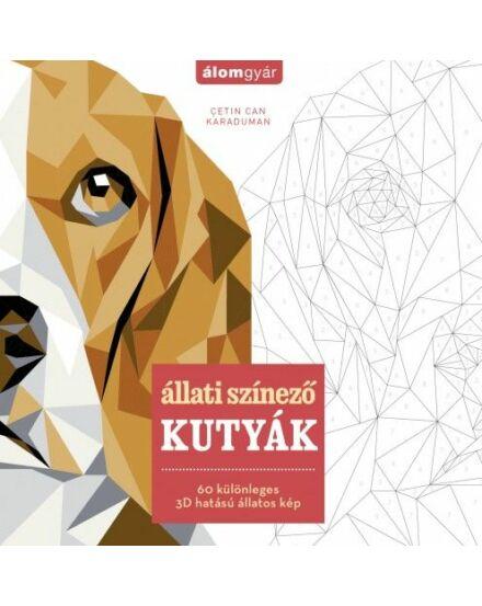 Állati színező: Kutyák - 60 különleges 3D hatású állatos kép Cartographia 9786155596780
