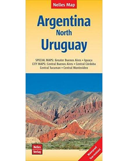 Argentína-észak Uruguay térkép