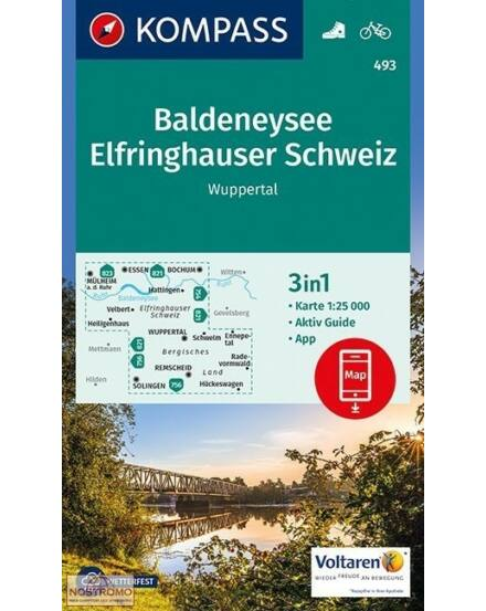 K 493 Baldeneysee, Elfringhauser Schweiz, Wuppertal, 1:25e turistatkp.