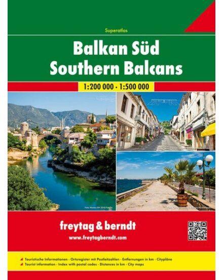 Balkán-Dél atlasz 1:200 000 Freytag