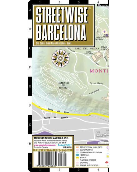 Barcelona (streetwise) várostérkép