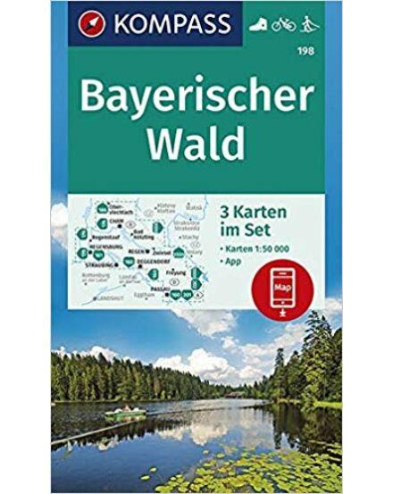 KOMP_198_Bayerischer_Wald_(Bajor erdő)_3_részes_térképsz.