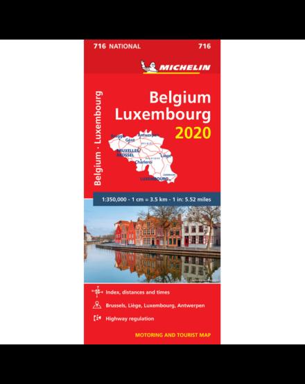 Belgium és Luxemburg térkép (716)