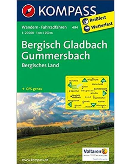 K 494 Bergisch Gladbach, Gummersbach, Bergisches Land, 1:25e turistatkp.