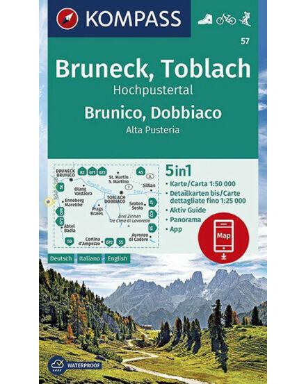 K 57 Brunico /Dobbiaco /Alta Pusteria turistatérkép