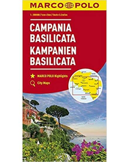 Cartographia  - Campania, Basilicata régiótérkép