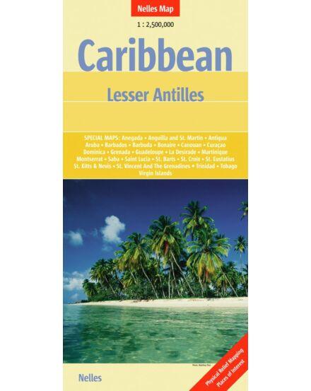 Karib szigetek: Kis-Antillák térkép