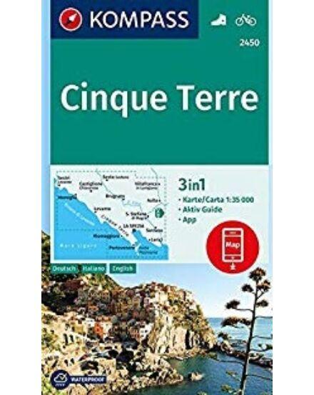 Cartographia  - K 2450 Cinque Terre turistatérkép