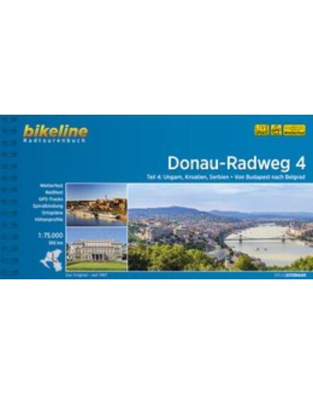 Cartographia  - Duna kerékpáros kalauz 4. Budapest - Belgrád (német)