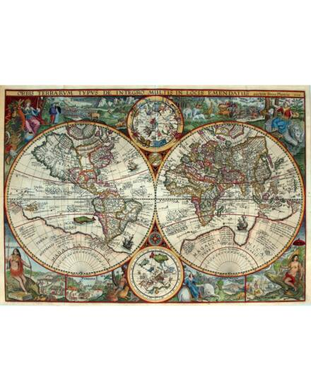 Cartographia  - Világtérkép 17.század - Keretes