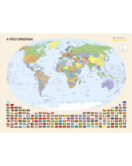 Cartographia  - A Föld országai falitérkép - keretes
