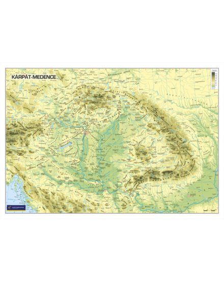 Cartographia  - Kárpát medence domborzata hablapos falitérkép