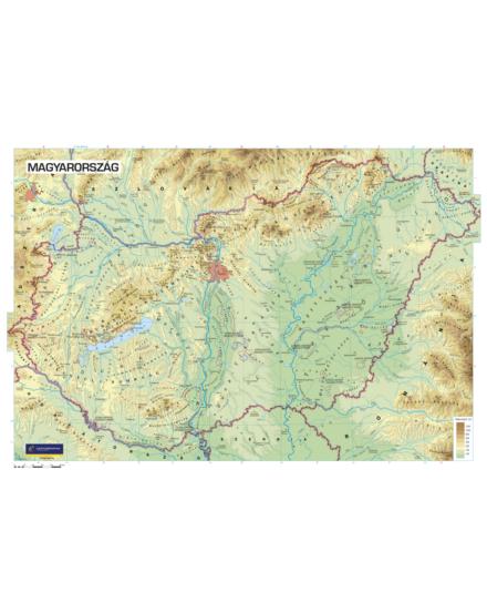 Magyarország domborzata falitérkép - választható méret és kivitel