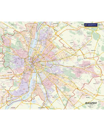 Cartographia  - Budapest falitérkép választható kivitel