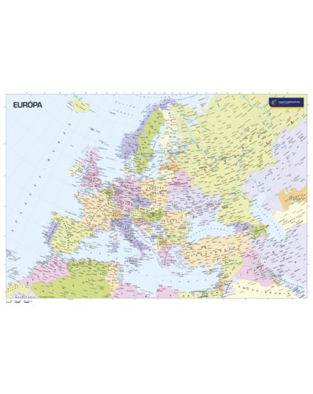 Cartographia  - Európa országai falitérkép kicsi