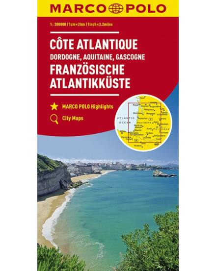 9783829737876 Franciaország résztérkép - Atlanti partvidék, Aquitania, Gascogne, Dordogne Marco Polo Cartographia