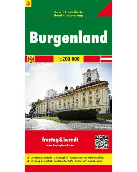 Cartographia  - Ausztria résztérkép 3. Burgenland térkép
