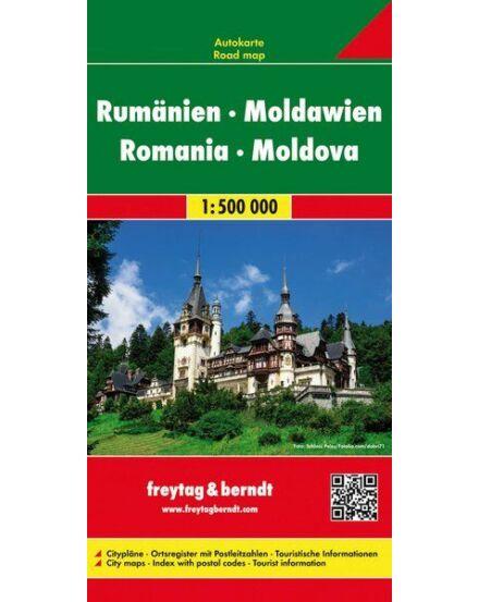 Románia/Moldova keményborítós térkép