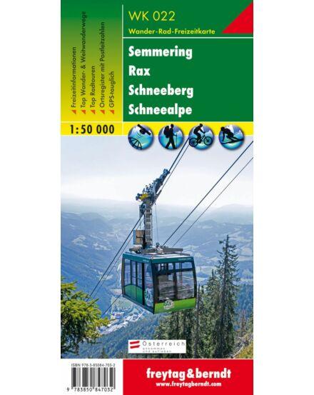 Cartographia  - WK022 Semmering-Rax-Schneeberg turistatérkép