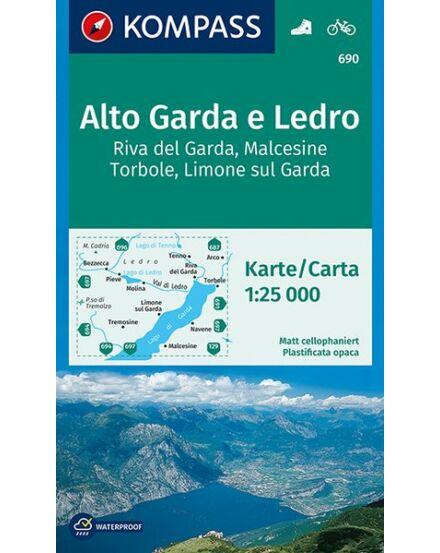 Cartographia  - K 690 Garda-tó északnyugati rész turistatérkép