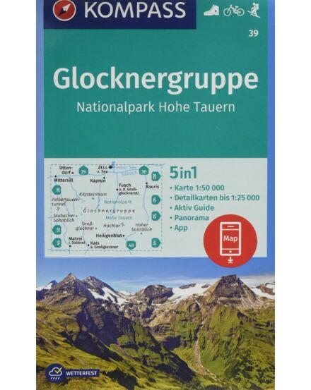 Cartographia  - K 39 Glocknergruppe turistatérkép