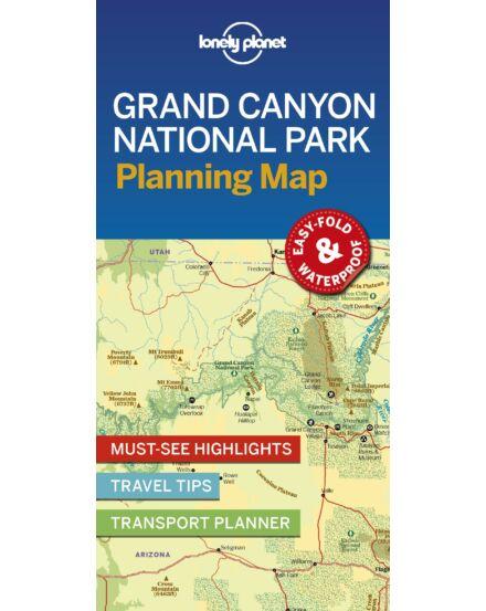 Grand_Canyon_NP_térkép Lonely Planet_laminált